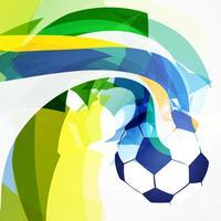 stilvoller abstrakter Fußballentwurf