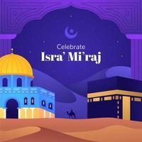 feiern isra miraj hintergrund vektor