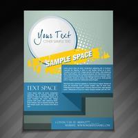 abstrakt broschyrdesign