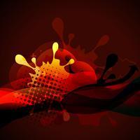 stilig röd färg vektor