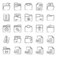 Dateitypen und Ordner vektor