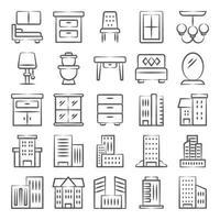stadsbyggnader dekorativa interiörer