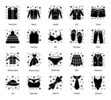 Mode- und Kleidungselemente vektor