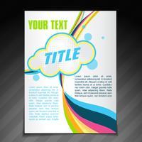 abstrakt våg broschyr design vektor