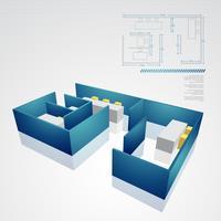 arkitekalisk teknisk ritning vektor