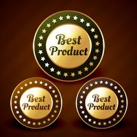 vektor bästa prduct gyllene etikett design