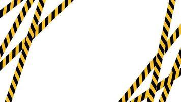 Warnbandbänder auf weißem Hintergrund. Kopierraumkomposition für Text. Vektorillustration