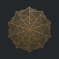 abstrakta lyxiga prydnadsguldlinjer på svart bakgrund. vektor illustration