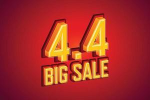 4,4 stor försäljning teckensnitt uttryck popkonst komisk pratbubbla. vektor illustration