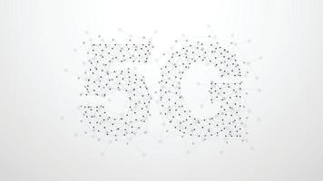 5g abstrakt plexus-pricknätverk. begreppet affärsteknik. form på grå bakgrund. vektor illustration