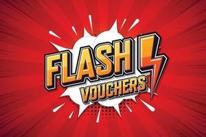 flashkuponger, talaffisch. textkonst online marknadsföringsdesign. uttryck popkonst pratbubbla