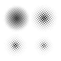 abstraktes Halbtonelement für Grafikdesign. Vektorillustration