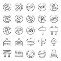 trendige Zeichen und Symbol vektor