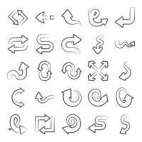 Sammlung von Navigationspfeilen vektor