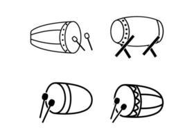 islamisk trumma ikon designmall vektorillustration