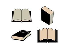 klassisk gammal bok ikon design mall vektor