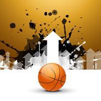 kreativer Hintergrund des Basketballs mit Pfeilen vektor