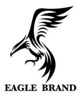linje konst vektor logotyp av örn som flyger.
