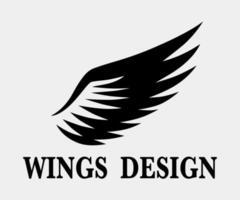 svart djur vinge logo design vektorillustration lämplig för branding eller symbol.