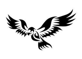 Linienkunst-Vektorlogo des fliegenden Adlers. vektor