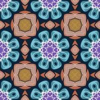 sömlösa mönster med abstrakt mandala dekorativ arabesk illustration.