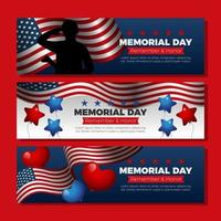 respekterar våra hjältar på minnesdagen vektor