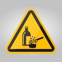 kemikalier i användning symbol tecken isolera på vit bakgrund, vektorillustration eps.10