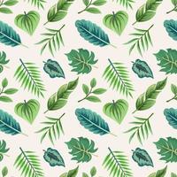 sömlösa mönster med vackra exotiska tropiska blad.