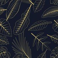 sömlösa mönster med tropiska löv. elegant exotisk bakgrund.