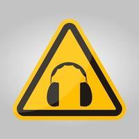 symbol hörselskydd krävs tecken isolera på vit bakgrund, vektorillustration eps.10