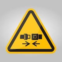 ppe-ikon. bär säkerhetsbältesymbol tecken isolera på vit bakgrund, vektorillustration eps.10 vektor