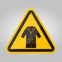 ppe-ikonen. kläder smock symbol tecken isolera på vit bakgrund, vektor illustration eps.10