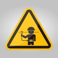 ppe icon.use Sicherheitsgurte Symbol Zeichen isolieren auf weißem Hintergrund, Vektor-Illustration eps.10 vektor