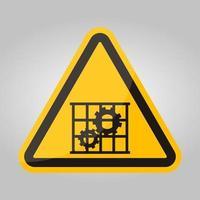 ppe-ikon. använda vakter skydd symbol tecken isolera på vit bakgrund, vektorillustration eps.10 vektor