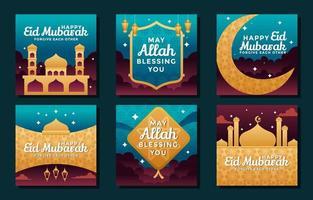 teile den Segen im heiligen Monat Ramadan vektor