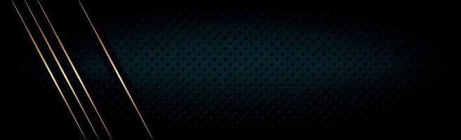 schwarzer perforierter Hintergrund mit schwarzen Löchern und Glühen. vektor