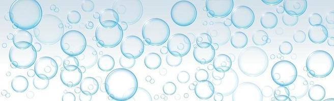 luftbubblor i olika storlekar på en ljus bakgrund vektor