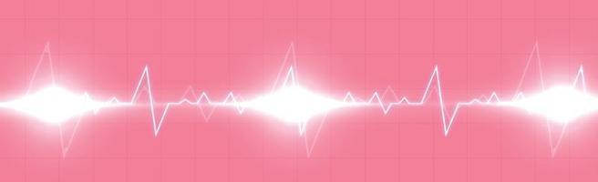 Herzpuls - gekrümmte rote Linie auf einem rot-schwarzen Hintergrund vektor