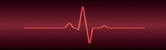 hjärtpuls - böjd röd linje på en röd-svart bakgrund