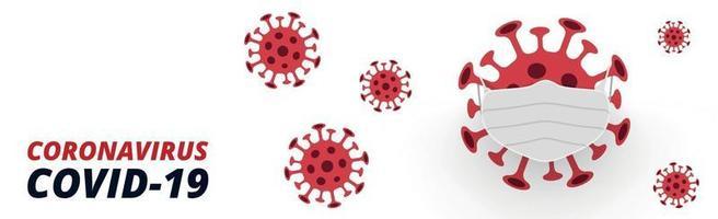 farligt nytt virus covid-19, bilden av bakterier - vektor