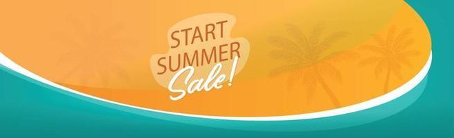 Werbepanorama für die Sommer-Werbematerialien Ihres Unternehmens vektor