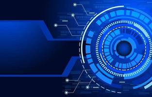 blauer futuristischer Hightech-Cyberspace-Technologiehintergrund vektor