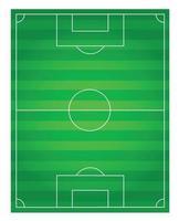 klassisches Fußballfeld mit zweifarbiger grüner Beschichtung vektor