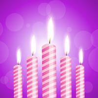 Abbildung der glänzenden Kerzen vektor