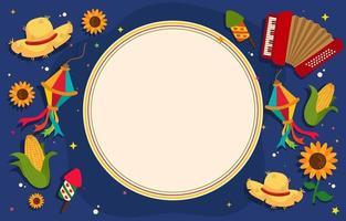 Festa Junina Festival Hintergrund vektor