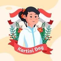 Kartini Day Design-Konzept vektor