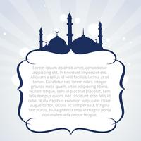 islamisches Hintergrunddesign vektor