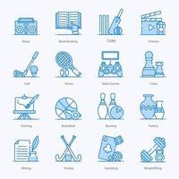 Hobbies und Interessen vektor