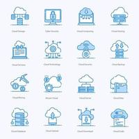 Cloud Computing und Technologie vektor