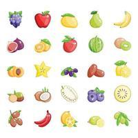 tropiska eller sommarfrukter